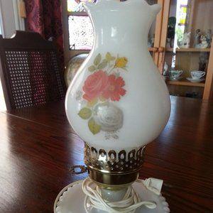 Antique Milk Glass Table Lamp